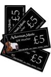 �5 Ackerman Music Gift Voucher