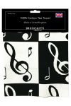 Music Notes Tea Towel