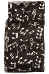 Long Black Music Scarf