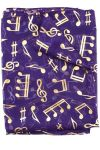 Long Purple Gold Notes Scarf