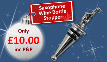 Saxophone Wine Bottle Stopper