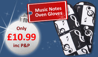 Music Notes Oven Gloves