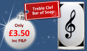 Treble Clef Soap
