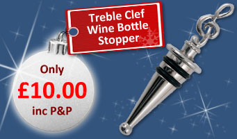 Treble Clef Wine Stopper
