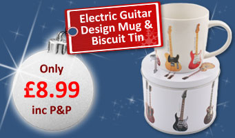 Guitar Mug and Biscuit Tin