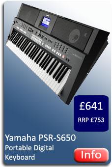 Yamaha PSR-S650 Keyboard