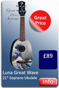 Luna Great Wave Soprano Ukulele