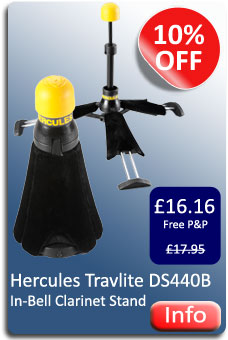 Hercules Clarinet Travlite Stand