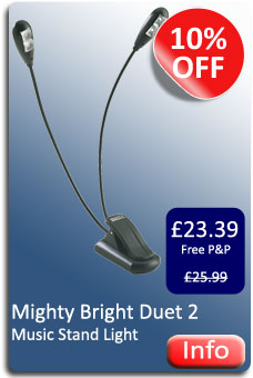 Mighty Bright Duet 2 Music Stand Light