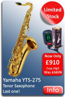 Yamaha YTS275 Tenor Sax