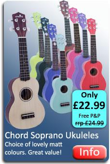 Chord Coloured Ukuleles