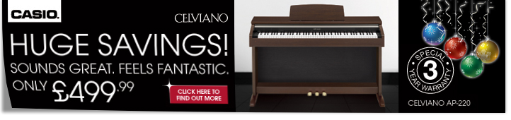 Casio Celviano Christmas Offer