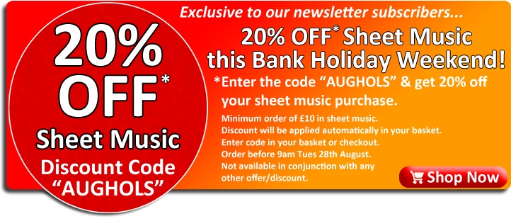 20% Off Sheet Music at Ackerman Music