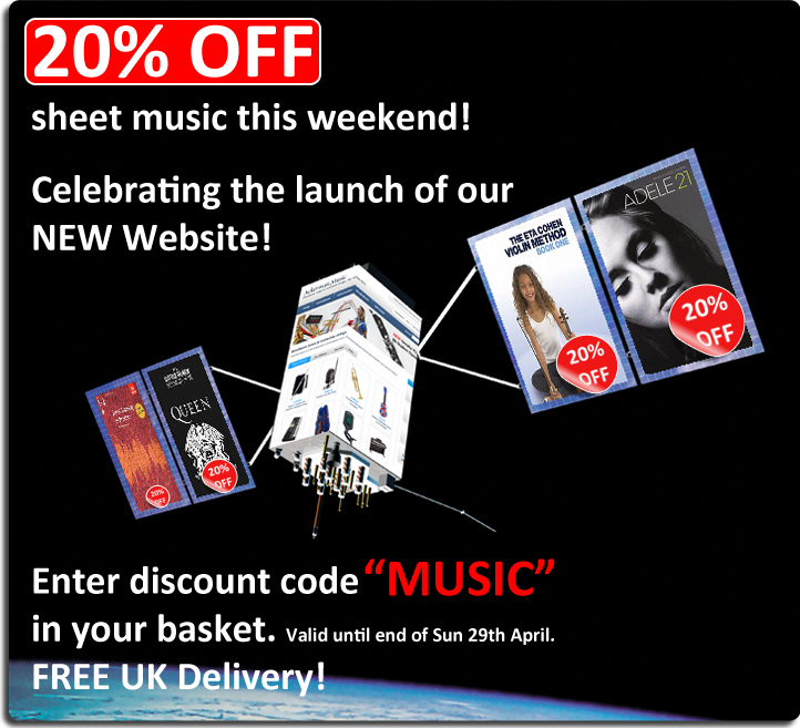 20% Off Sheet Music at Ackerman Music - Voucher Code MUSIC