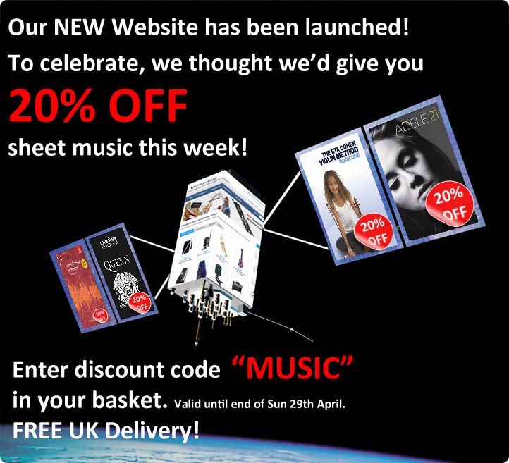 20% Off Sheet Music at Ackerman Music - Voucher Code MUSIC