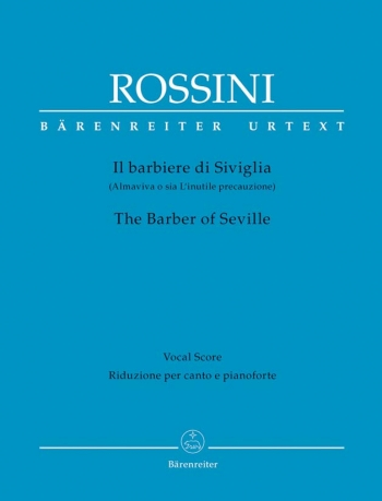 Rossini : Overture To Barber Of Seville: Vocal Score Hardback