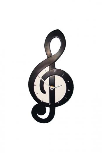 wall clock treble clef shaped