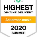Ackerman Music receive Award for Highest On-Time Delivery