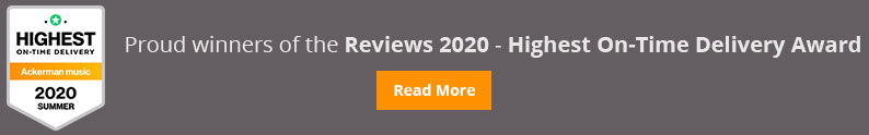 Reviews 2020 - Highest On-Time Delivery Award